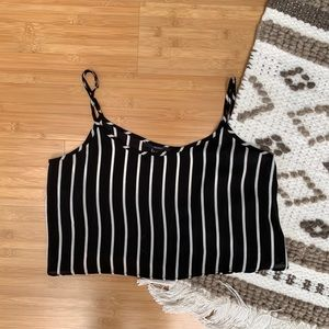 Forever 21 Striped Crop Tank